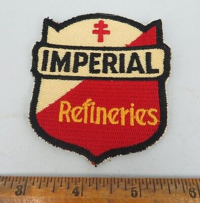 IMPERIAL REFINERIES large 1950s Patch NOS New Old Stock GAS OIL SERVICE STATION