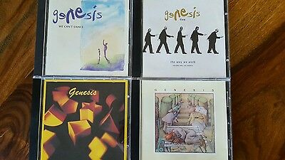 4 Genesis cd-Genesis, Selling england by pound, live way we walk, we can't dance