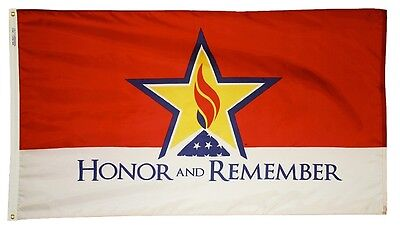 4x6 ft HONOR and REMEMBER Military Memorial Flag Outdoor Print Nylon USA Made