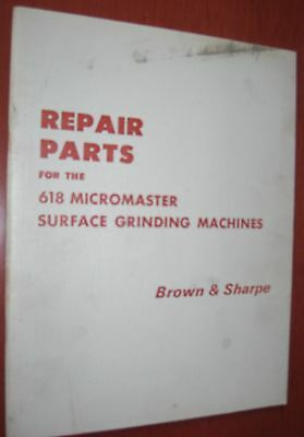 Brown & Sharpe 618 Micromaster Parts List