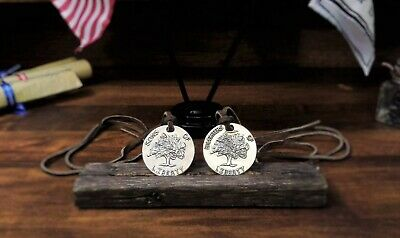 silver coin pendant/historical pendant/sons of liberty/DAR/Patriotic gift