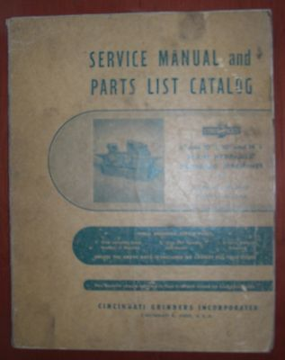 "Cincinnati 6"", 10"" & 14"" L Plain Cylindrical Grinder Service Manual"