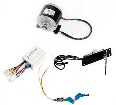 350W 24V DC electric motor kit w Speed controller+Pedal Foot Throttle+Key Lock