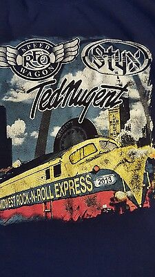 Midwest rocknroll express 2013 t-shirt (med) (Ted Nugent, RFO Speedwagon, styx )