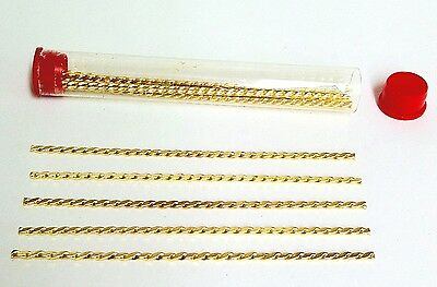 24k Golden plated Twist Plate Strengthener Wire - 10 pieces - Free Shipping!