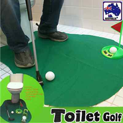 Mini Golf Funny Potty Putter Toilet Time Novelty Gag Gift Toy Mat GBGOF9993
