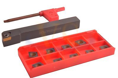 12MMX12MM SCLCR Turning Toolholder  +10pcs CCMT Carbide inserts  CNC Lathe Tools