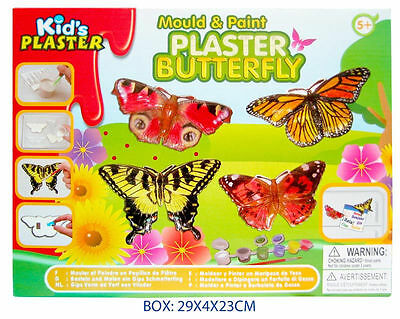 Brand New Children's Mould & Paint Plaster Craft Kit - Butterfly - Ages 5+ Years