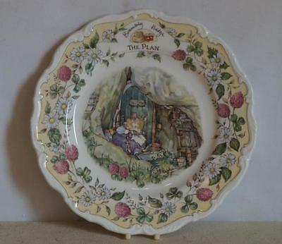 "ROYAL DOULTON ~ BRAMBLY HEDGE ~ 8"" Plate ~ THE PLAN ~ 1st Quality ~ Boxed"