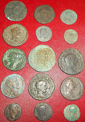 JOB LOT 15 ROMAN COINS (Mostly Colonial)