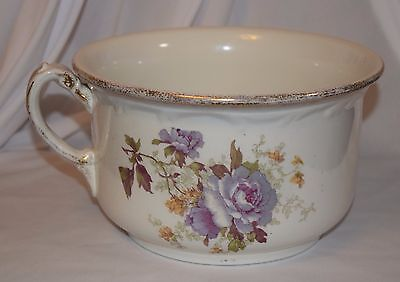 "Antique Maddock's Lamberton Works Royal Porcelain Chamber Pot 5.5""x9"" Floral"