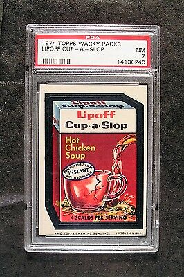 1974 Topps Wacky Packages 8th Series 8 LIPOFF CUP-A-SLOP NM PSA 7