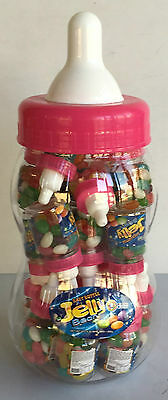 Big Pink Baby Bottle With 20 Mini Bottles Jelly Beans Baby Shower Candy Buffet