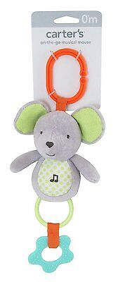 Carter's On the Go Musical Mouse Teether Toy Unisex Baby