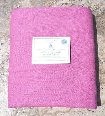 "POTTERY BARN KIDS ~ SAILCLOTH BLACKOUT PANEL  in PINK 44"" X 96"" ~ SOLD OUT @ PB"