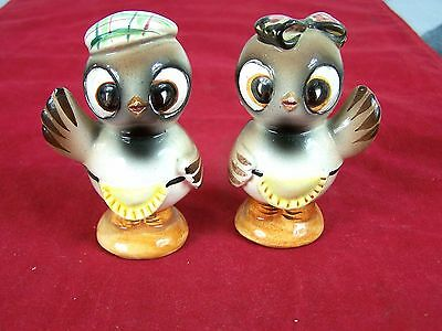 Owl Salt And Pepper Shakers Vintage Ceramic Glazed Decor Collectible
