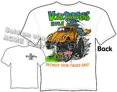Volkswagen Ratfink T Shirts Beetle Bug Big Daddy Clothing Ed Roth Shirt Apparel
