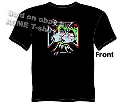 Iron Cross T Shirt Maltese Cross Tee Kustom Kulture Apparel Tattoo Clothing
