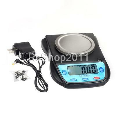 500g x 0.01g High Precision Digital Scale SF-400D2 Counting +USB Wall Adapter US