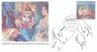 TORVILL AND DEAN - Signed Australian Arts FDC 1984
