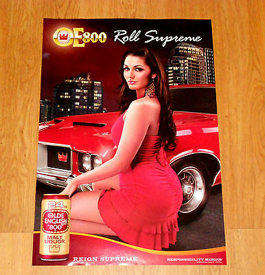 New OLD ENGLISH Poster O E Girl Poster Great Looking Poster