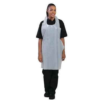 100X Disposable Aprons White Chef Kitchen Catering Cooking Serving Restaurant