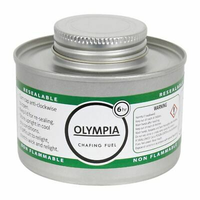 Olympia Liquid Chafing Fuel 6 Hour - Pack of 12 | Dish Warmer Wick Gel
