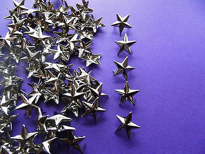 Bumper Pack of 100 Metal Star Studs/Brads: craft & sewing embellishments