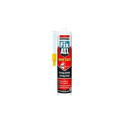 Mastic colle Fix ALL High Tack extra forte 290 ml Soudal 100268