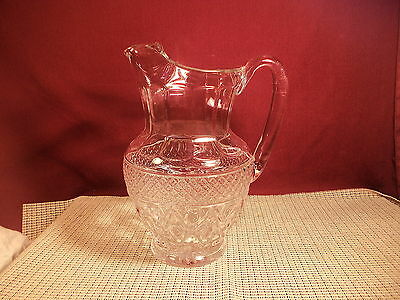 "Vintage Imperial Crystal Cape Cod Clear Ice Lip Pitcher 10"" T"
