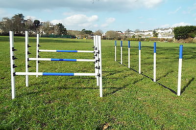 Dog Agility Equipment 3 Maintenance Free Jumps + 6 Weaves