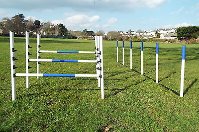 Dog Agility Equipment set 3 Maintenance Free Jumps + 6 Weaves