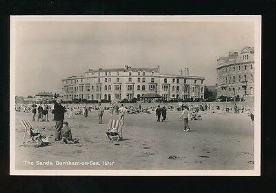 Somerset BURNHAM-ON-SEA The Sands c1950/60s? RP PPC by Salmon