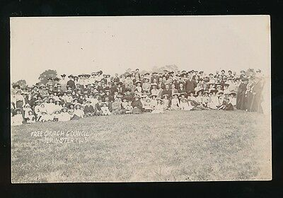 Somerset ILMINSTER Free Church Council group picture 1905 RP PPC