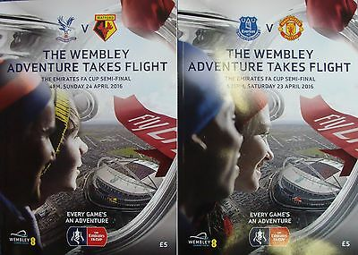FA CUP SEMI FINAL 2016 Set of BOTH official programmes