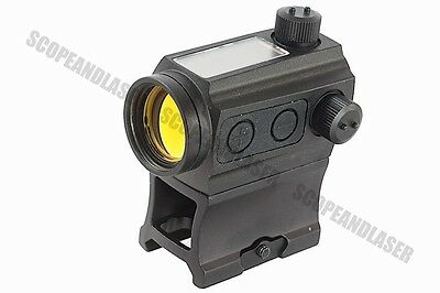 AIM Solar Power Red Dot Scope with Riser Mount & Low Mount Marui G&P