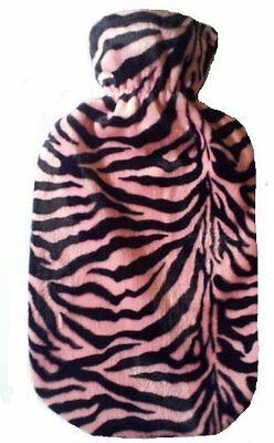 Pink & Black Tiger Hot Water Bottle Cover - COVER ONLY- Made in USA