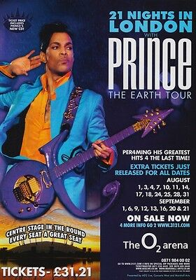PRINCE London o2 Arena Planet Earth 2007 Tour PHOTO Print POSTER Art Singer 002