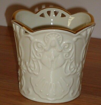 "Lenox Merry Lights ANGEL VOTIVE candle holder 3.25""H"