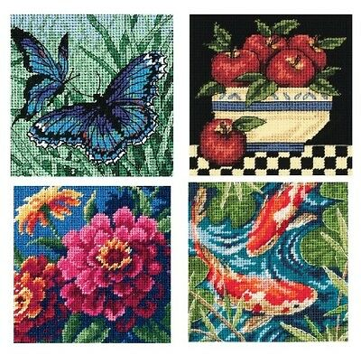 """Dimensions Needlepoint Canvas Stitch Kit 5"""" Square Cotton Craft NEW"""