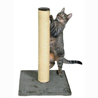 Trixie Parla Scratching Post 62 Cm Platinum Grey Pet Supplies With Plush Cover