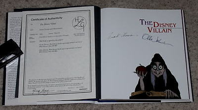 "Rare Mint ""author Autographed"" Edition Of ""the Disney Villain"" Hardcover Book"