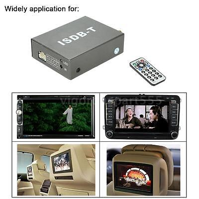 Mini ISDB-T Car Digital TV Box DVD Analog TV Receiver +Remote Controller D7G9