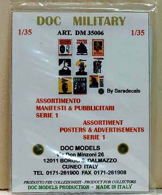 DOC MILITARY 35006 - DECALS POSTERS - SERIE 1 - Scala 1:35