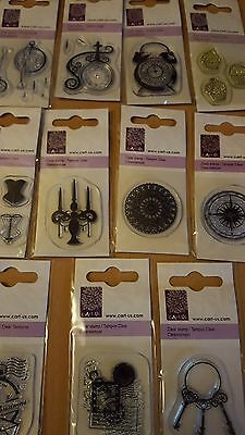Cart Us Stamps Small Everyday Post Stamp, Clock, Cake, Keys Various Designs