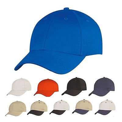1 DOZEN 6 Panel Low Crown Brushed Cotton Baseball Caps Hat Hats WHOLESALE BULK