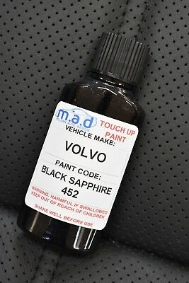Volvo Black Sapphire Code: 452 Paint Touch Up Kit 30Ml Chip Scratch Repair