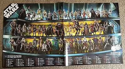 Star Wars 30th Anniversary Action Figure Collection POSTER Comic Con Exclusive