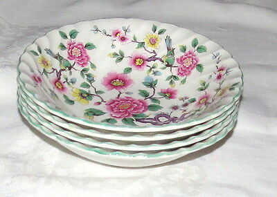 """James Kent Old Foley Chinese Rose FOUR 6.1/2"""" Cereal Bowls"""