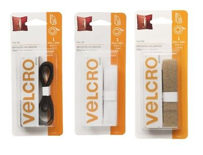 "Velcro Iron On 24"" x 3/4"" Strip Fastener Tape Hook & Loop SELECT YOUR COLOR!"